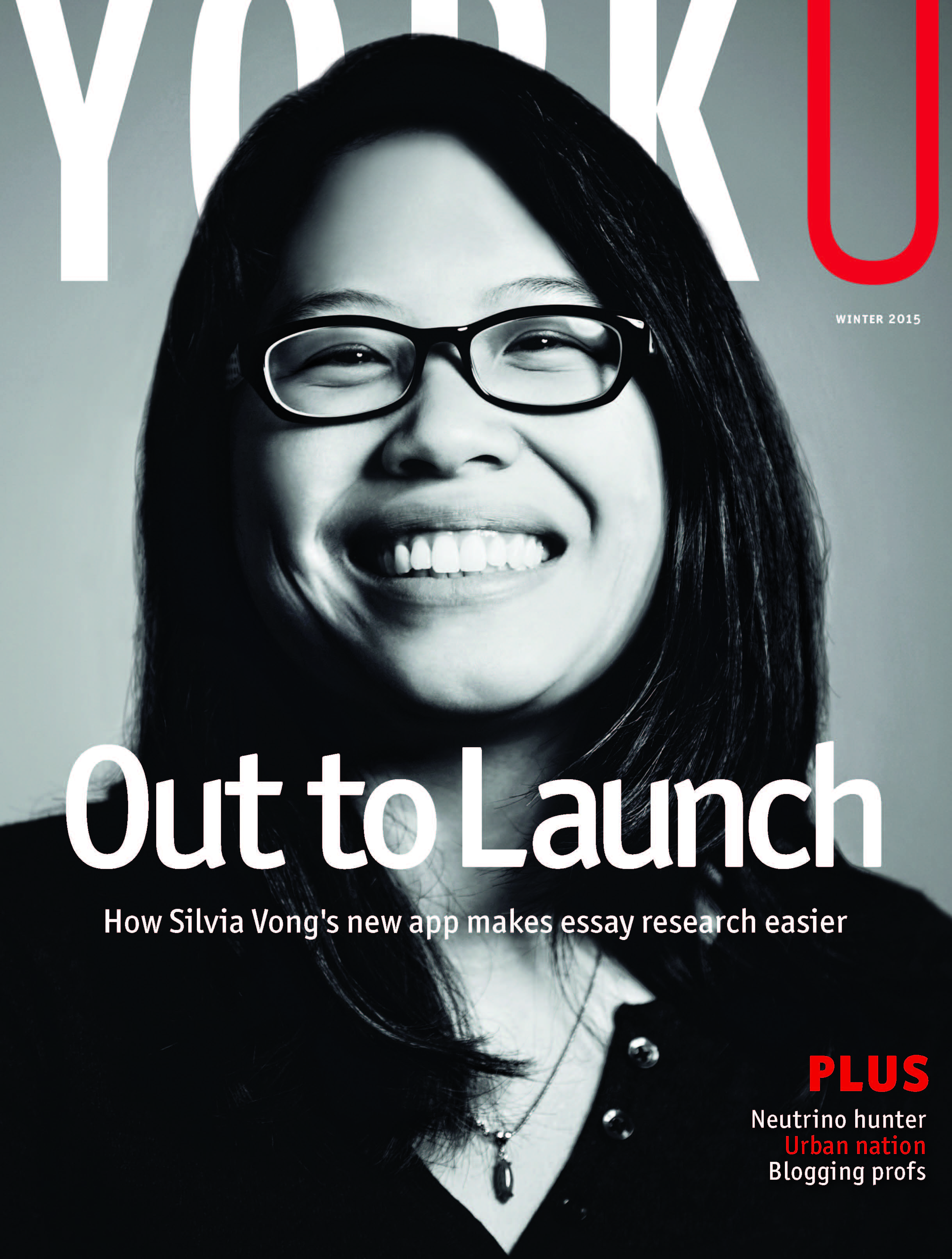 Cover of YorkU magazine's Winter 2015 issue