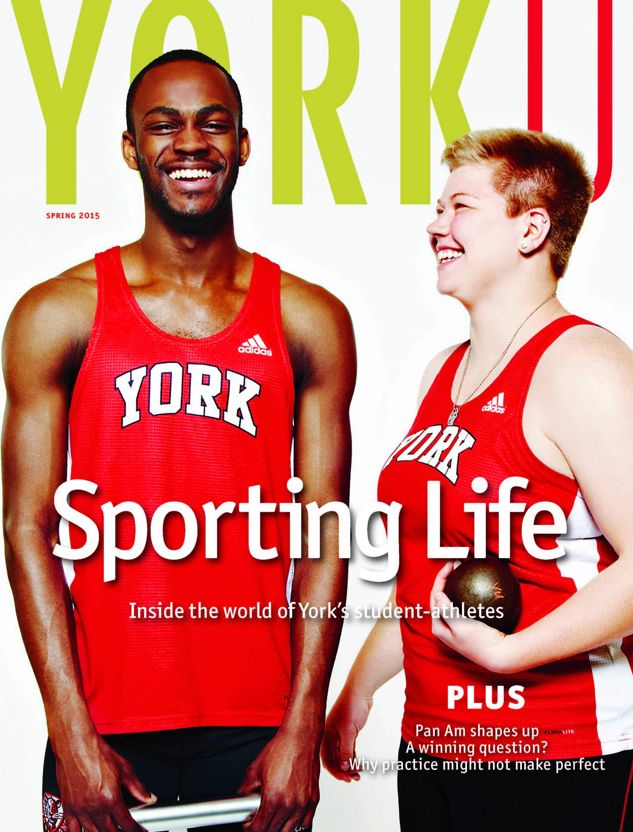 Cover of YorkU magazine's Spring 2015 issue