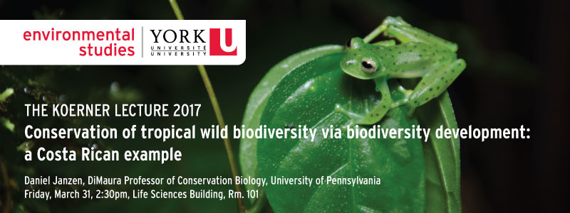 Biodiversity Development in Costa Rica - Daniel Janzen - 2017 Koerner Lecture @ 101 Life Sciences Building |  |  |